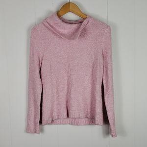 🍓 JKLA : Pastel Pink Asymmetrical Neck Sweater